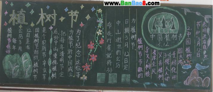 有关植树节的黑板报_关于植树节的黑板报图片