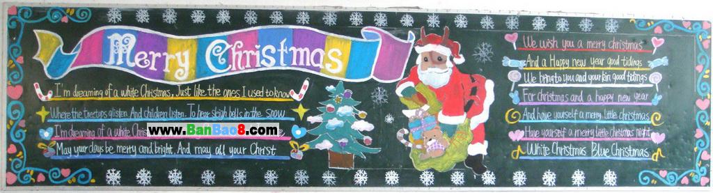 小学生圣诞节黑板报