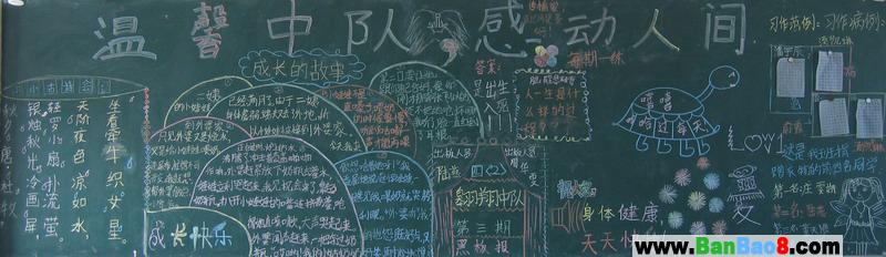 小学班级文化建设黑板报
