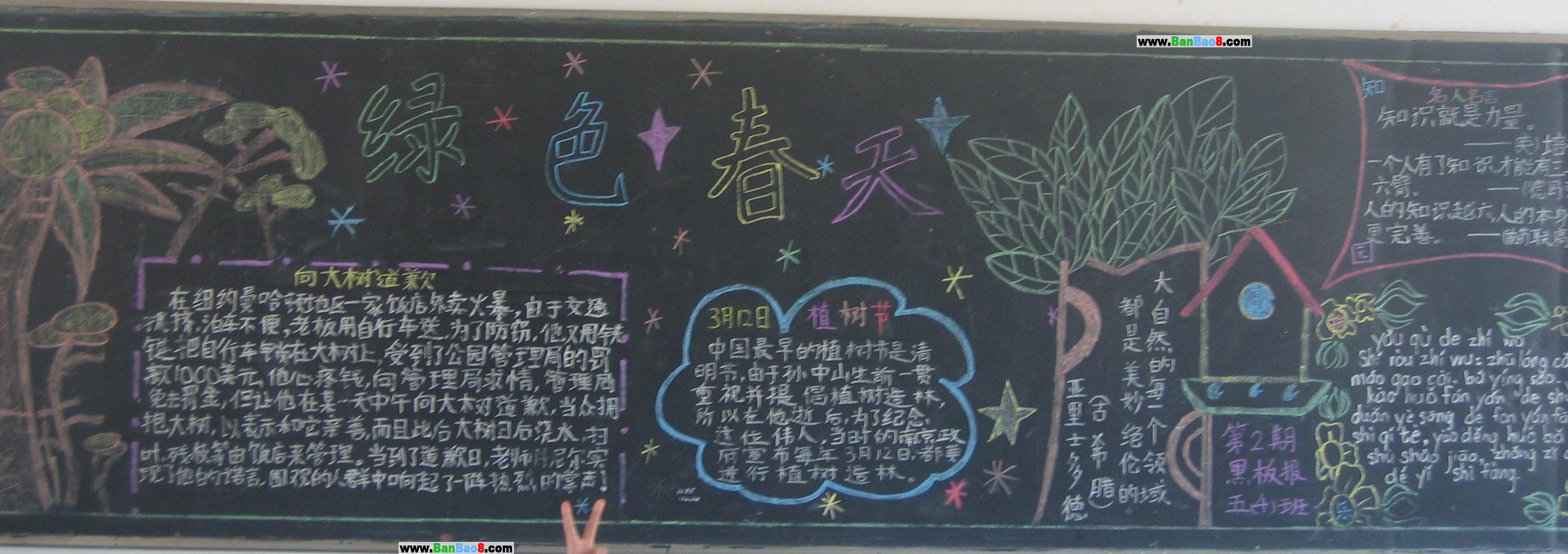 幼儿园黑板板报设计图案大全